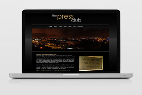 Wolf Studios Web Design project. The Manchester Press Club